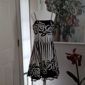 Dress Barn Black and White party dress
